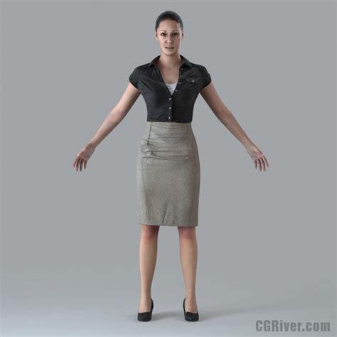 3d Kitchen Design Software Free Download businesswoman rigged 3d human model bwom0012m4 cgriver