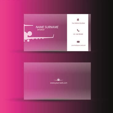 Pink Business Cards Templates Free by Pink Business Card Template Free Vector 31 075