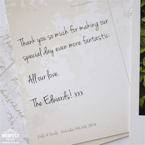 Generic Wedding Thank You Card Message