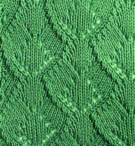 leaf stitch knitting wide leaf knitting stitch knitting kingdom