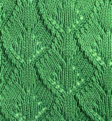 leaf knitting stitch wide leaf knitting stitch knitting kingdom