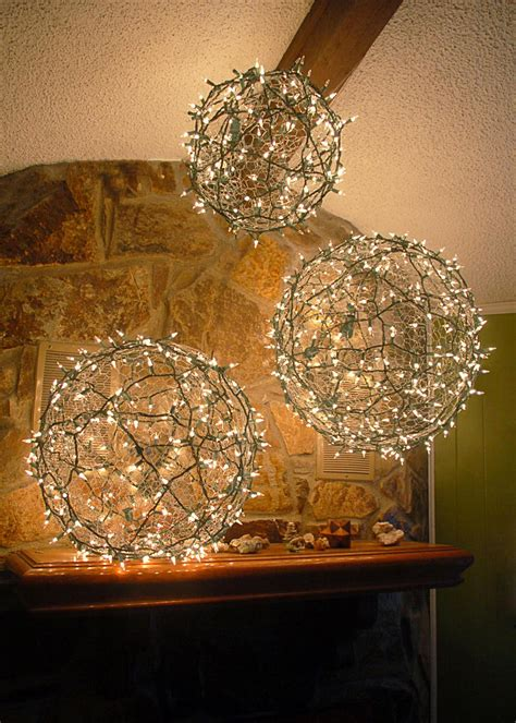 chicken wire ornaments diy light balls hgtv