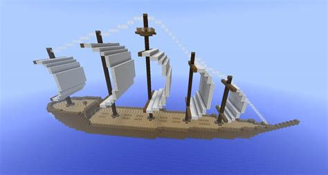 how to make a sailboat in minecraft giant sail boat minecraft project