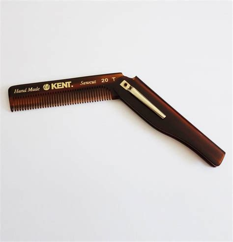 Kent Handmade Comb - kent 20t handmade s pocket folding comb the beard