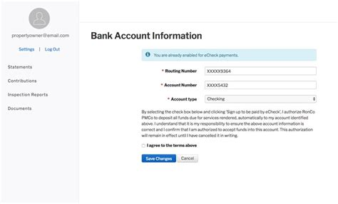 update change my account details help debenhams owner portal overview appfolio property manager