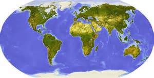 World Flat Map by Flat Map Of The World Deboomfotografie