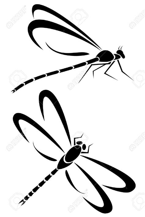 dragonfly clipart two dragonfly tribal tattoos dragonfly dragonfly