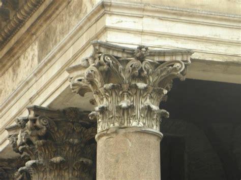 corinthian capital of a column picture of pantheon rome