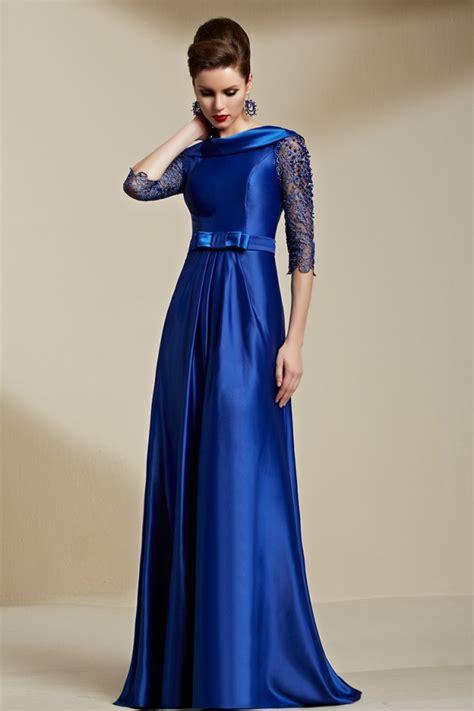 Celebrity Inspired Dark Royal Blue Backless Evening Dress