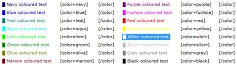 bbcode colors bbcode miguel 193 ngel zamora