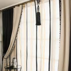 Black And Beige Curtains Black Beige Color Blackout Solid Living Room Curtains