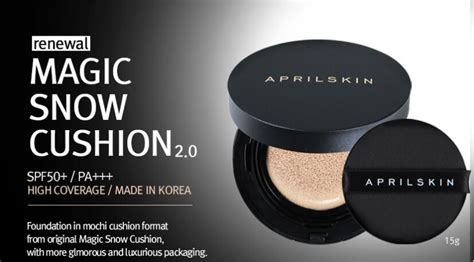 April Skin Black Cushion Original april skin magic snow cushion new black version 2 0 11street malaysia foundation