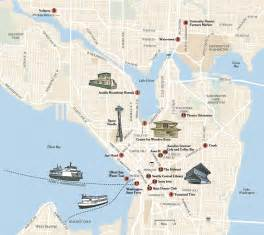 Seattle Attractions Map seattle map free printable maps