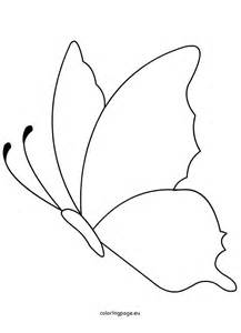 butterfly shape printable coloring page
