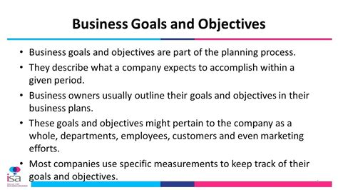 company goals and objectives template business goals and objectives template images