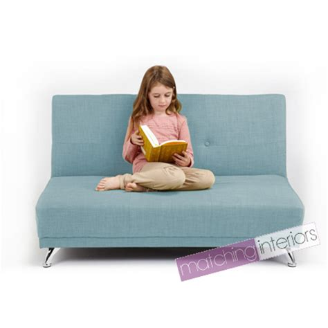 kids bed settee duck egg clic clac children s kids 2 seater settee sofabed