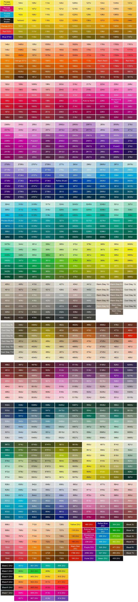 matching color schemes pantone color chart pantone matching system color chart