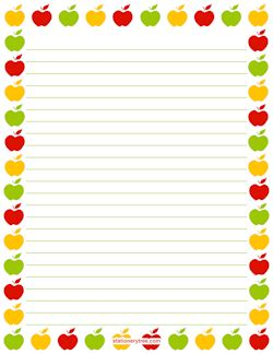 free printable apple stationery free food stationery and writing paper
