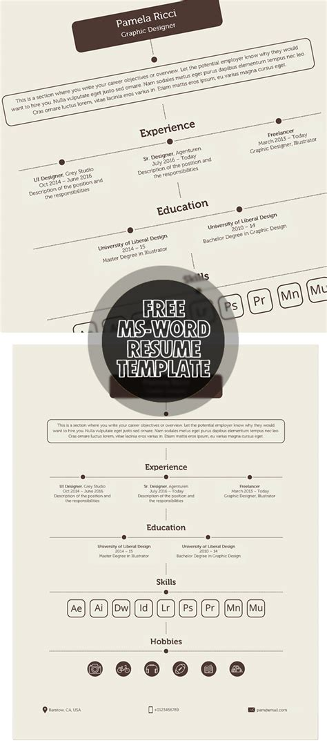 microsoft word resume template graphic design fresh free resume templates freebies graphic design junction