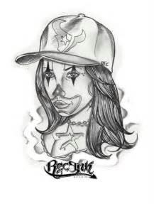 Clown woman payasa htown tattoo california chola by txrec on
