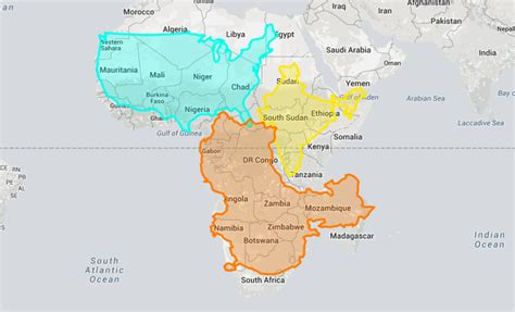 map world real size eye opening true size map shows the real size of