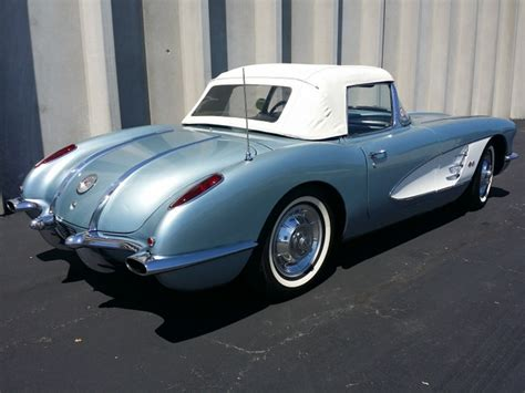 1958 corvette blue 1958 corvette quot silver blue blue gray quot 283 245hp vintage