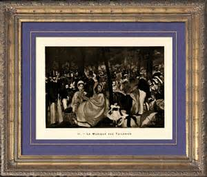 le bain manet antique prints print of the luncheon on the grass le