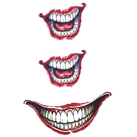 temporary tattoo cartoon joker smile glow artwear tattoo