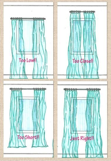 properly hanging curtains 1000 images about window treatments on pinterest how to