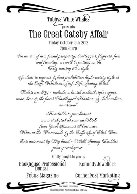 theme of infidelity in the great gatsby tubbys white whales great gatsby affair on behance