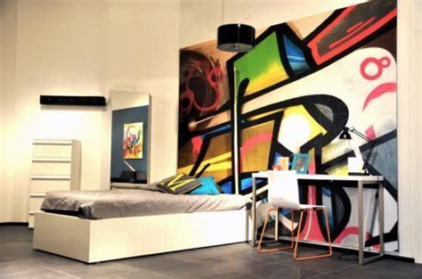 desain kamar grafiti desain interior rumah unik dengan graffiti wallpaper