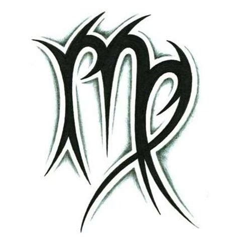 virgo sign tattoo designs tribal zodiac scorpio and aries tattoos virgo tattoos