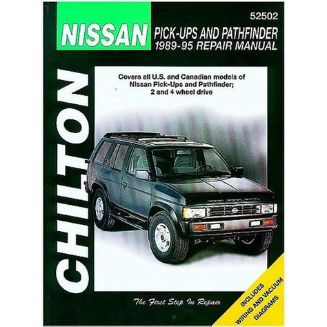 auto repair manual free download 1995 nissan pathfinder security system chilton nissan pick ups and pathfinder 1989 1995 repair manual northern auto parts