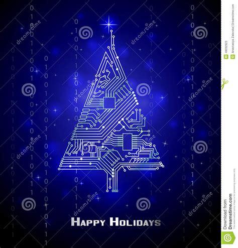 hi tech christmas tree stock vector image of christmas