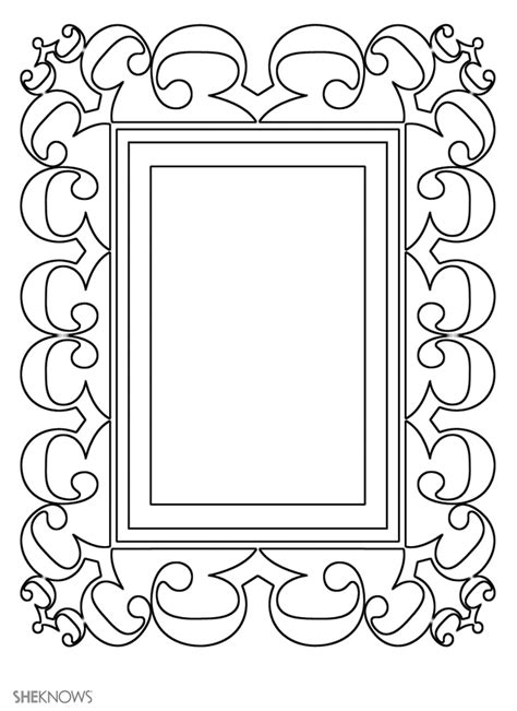 free printable picture frame templates free coloring pages of border frame