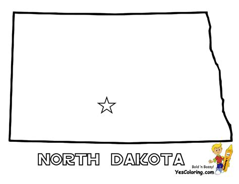free coloring pages of dakota state flag