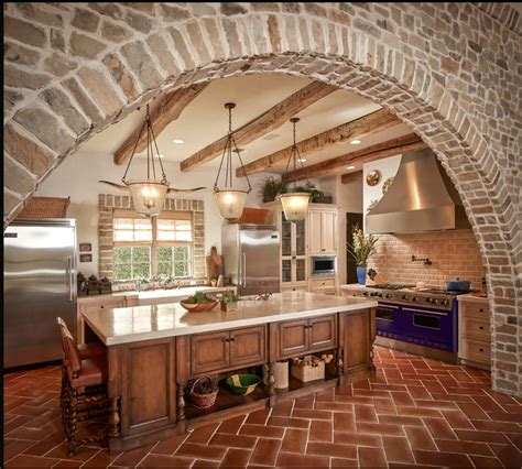brick kitchens brick kitchen decorations pinterest