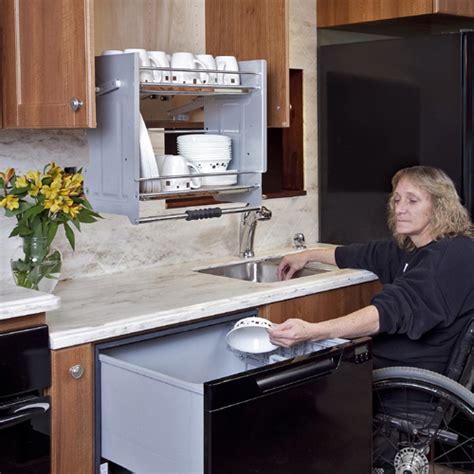 Pull Out Drawer Dishwasher by Accessible Kitchens For Mobility Challenges