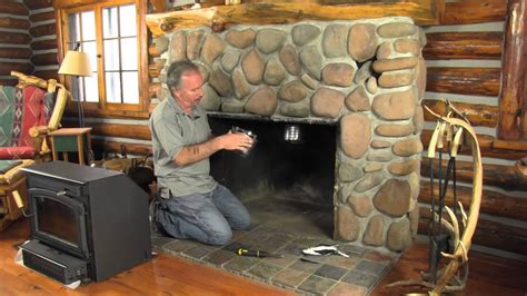 installing a wood burning stove in an existing fireplace how to install a new chimney liner yourself