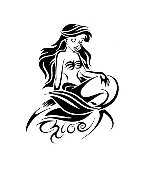 the little mermaid tribal tattoo design by jsharts on