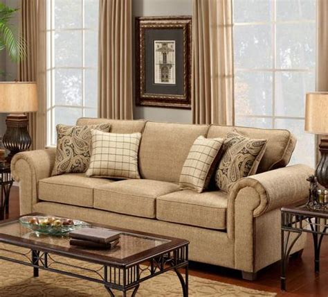Burbank Upholstery by Chelsea Home Furniture Sussex Sofa Burbank Ochre Fs1700