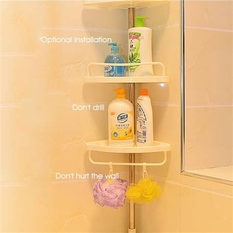telescopic bathroom shelves telescopic bathroom shelf adjustable corner shower shelf