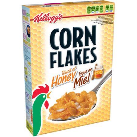 kellogg's: corn flakes touch of honey cereal, 12 oz