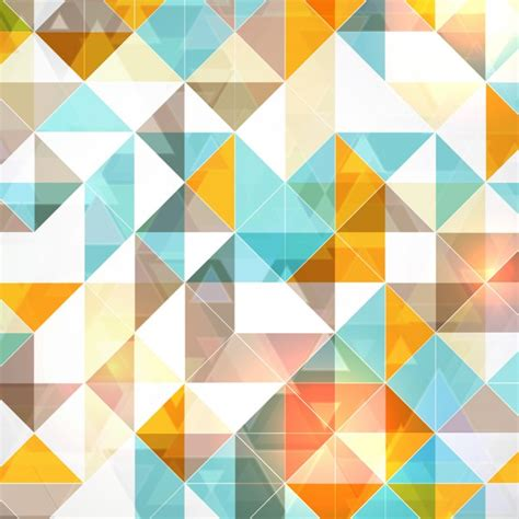 background of white and blue triangles vector free download polygonal background with blue and orange triangles vector