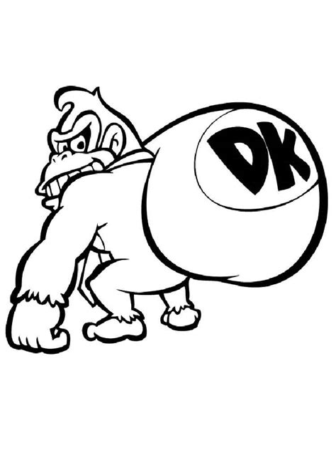 Kong Country Coloring Pages