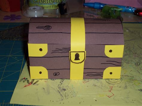 How To Make A Paper Treasure Chest - ashlee s a crafting