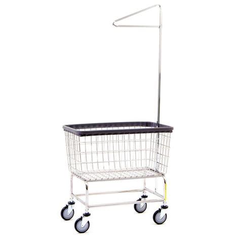 laundry cart 4 5 bushel large capacity laundry cart w single pole