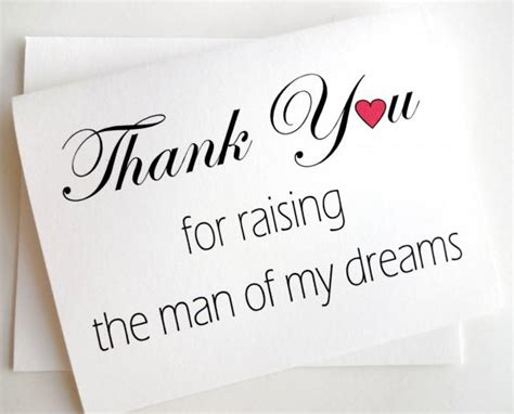the man of my wedding thank you for mother in law card thank you for raising the man of my dreams 2471773