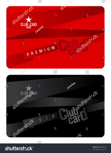 plastic card design template club plastic card design template stock vector 92268196