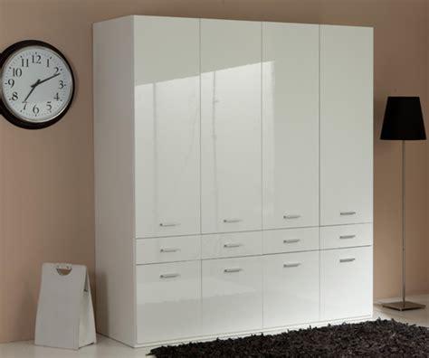 armoire 8 portes armoire 4 portes 8 tiroirs versa blanc